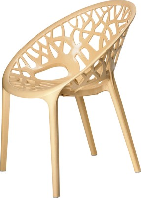 Nilkamal Plastic Outdoor Chair(Finish Color - Beige)