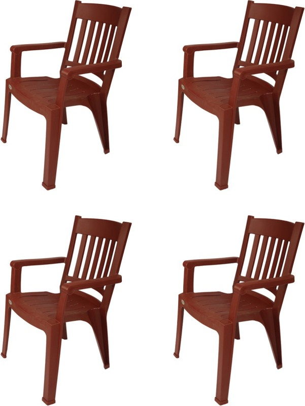 Supreme Wisdom Plastic Outdoor Chair(Finish Color - Brown)