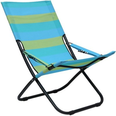 HomeTown ARIES FOLDING Metal Outdoor Chair(Finish Color - Blue and Mustard)