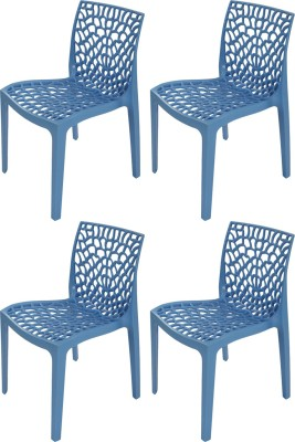 Supreme Web Plastic Outdoor Chair(Finish Color - Soft Blue)