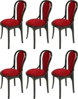 Supreme Pearl Super Plastic Outdoor Chair(Finish Color - Black::Red)