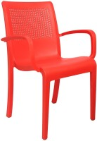 Cello Furniture Plastic Outdoor Chair(Finish Color - Red)