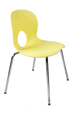 Ventura Plastic Cafeteria Chair(Finish Color - Yellow) at flipkart