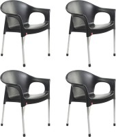 Cello Furniture Plastic Cafeteria Chair(Finish Color - Black)