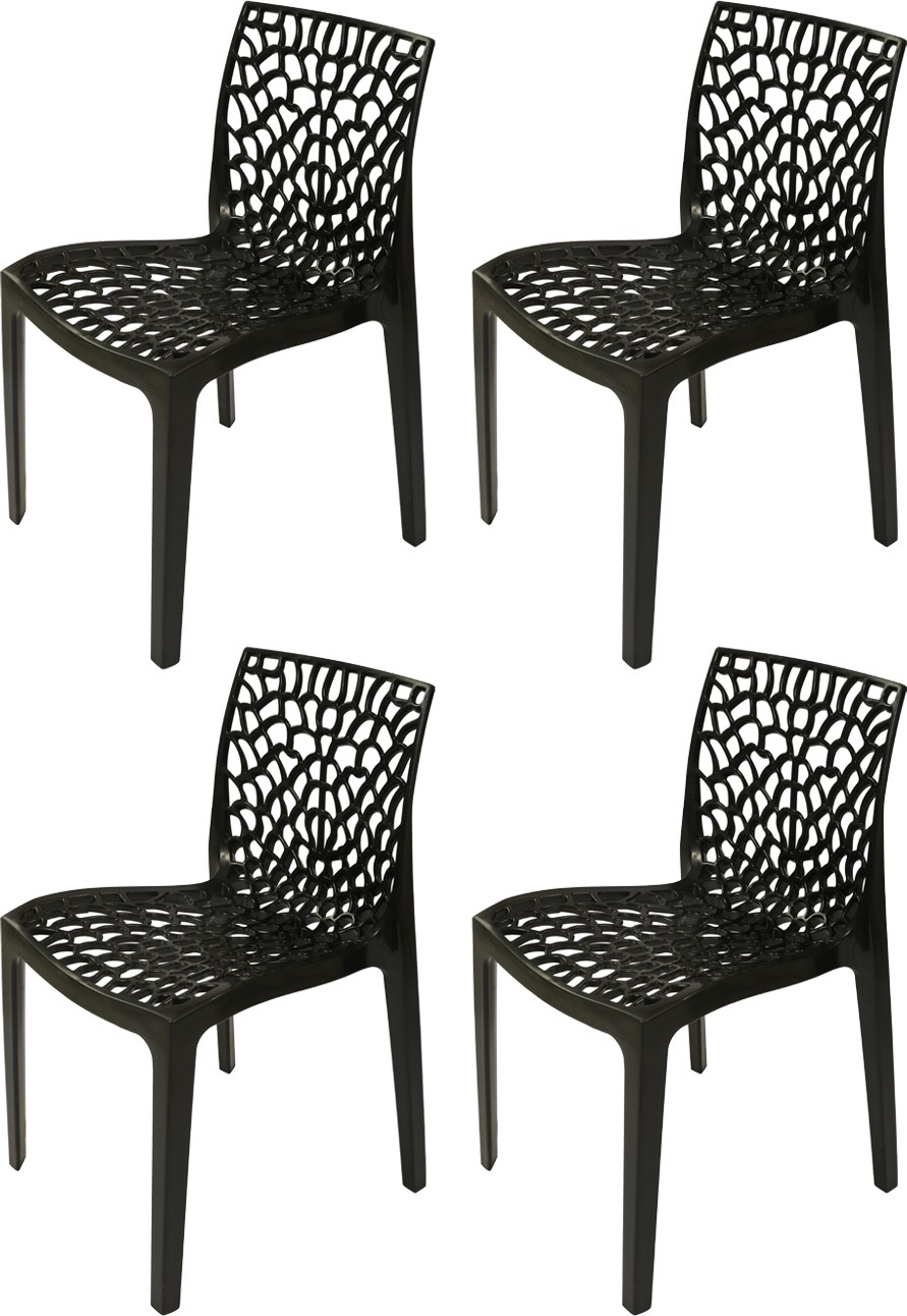 View Supreme Web Plastic Outdoor Chair(Finish Color - Black) Furniture (Supreme)