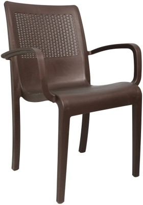 Cello Furniture Plastic Outdoor Chair(Finish Color - Brown)