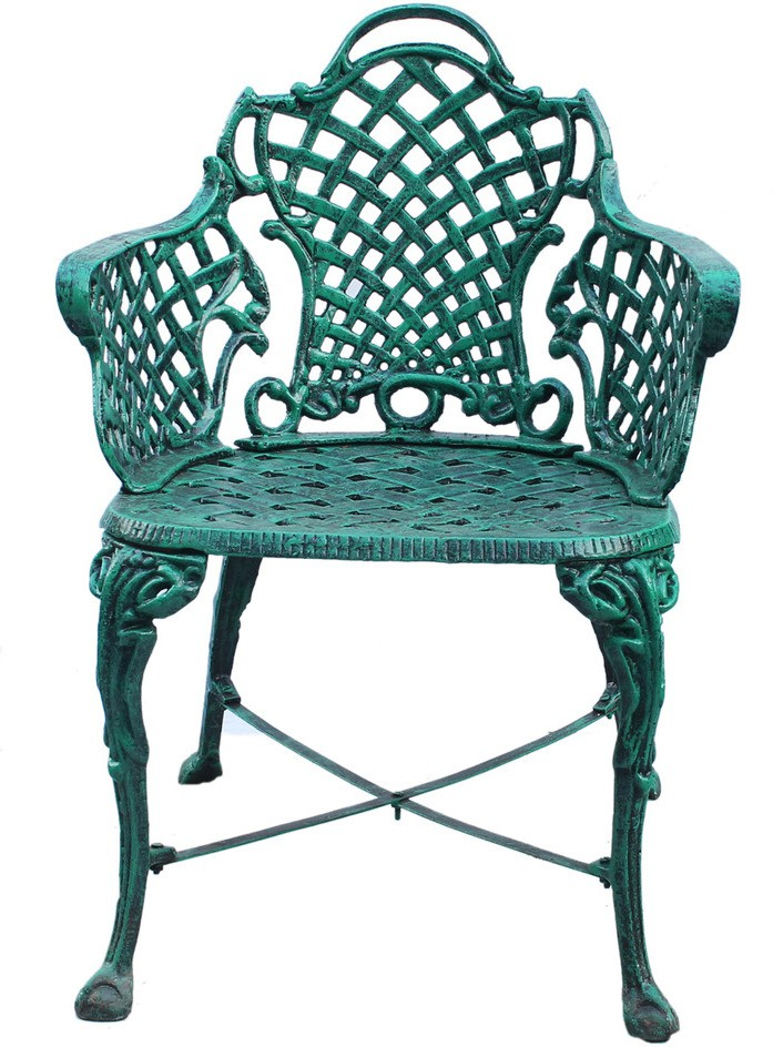 View Karara Mujassme Metal Outdoor Chair(Finish Color - Antique Green) Price Online(Karara  Mujassme)
