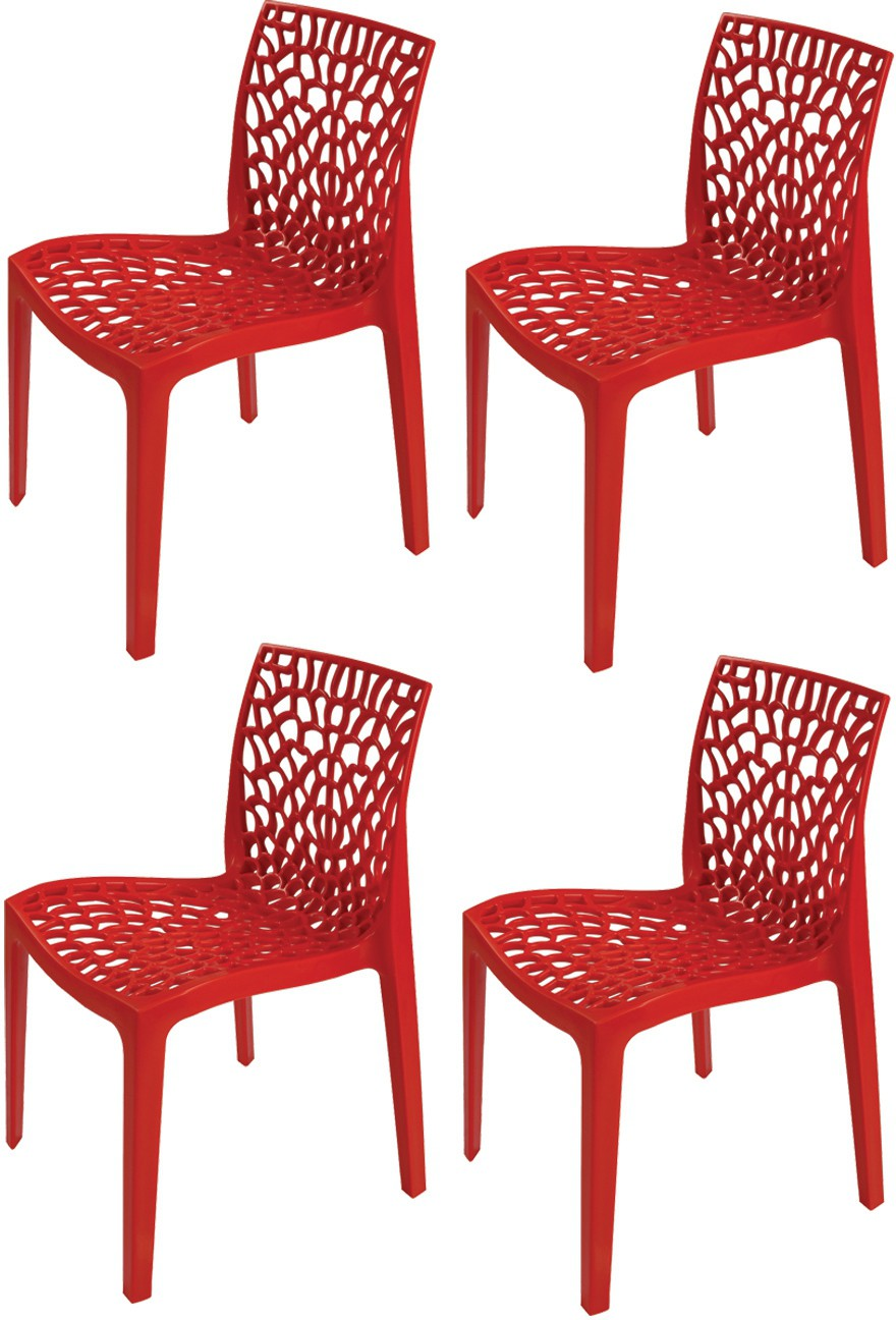 View Supreme Web Plastic Outdoor Chair(Finish Color - Red) Furniture (Supreme)