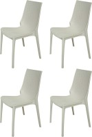 Supreme Lumina Plastic Outdoor Chair(Finish Color - White)