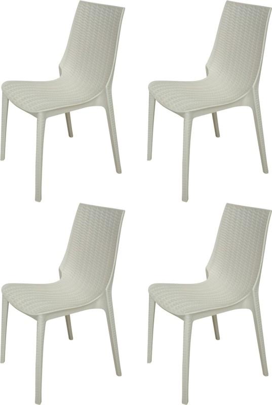 Supreme Lumina Plastic Outdoor Chair(Finish Color - White)