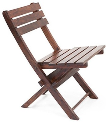 Urban Ladder Latt Folding Solid Wood Outdoor Chair(Finish Color - Brown)