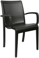 Cello Furniture Plastic Outdoor Chair(Finish Color - Black)