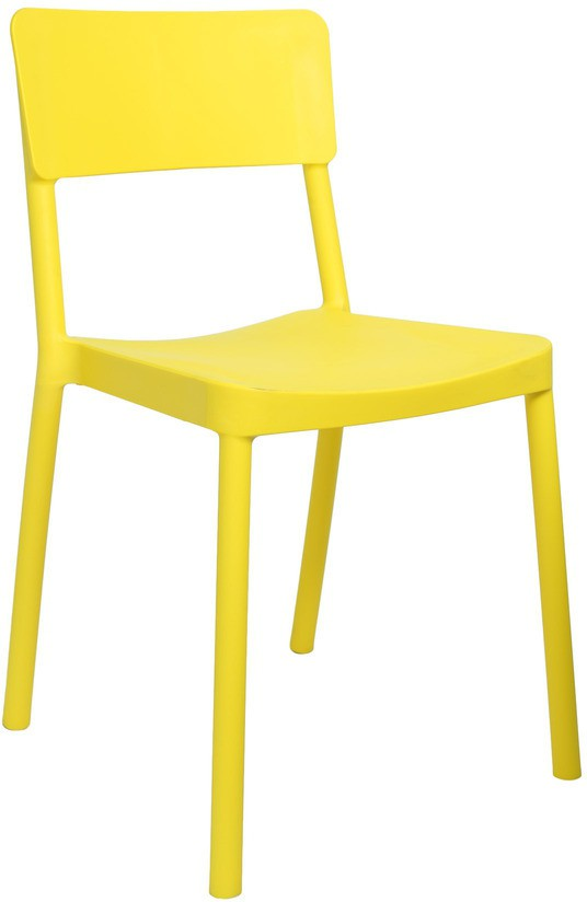 View Cello Furniture Plastic Cafeteria Chair(Finish Color - Yellow) Price Online(Cello Furniture)