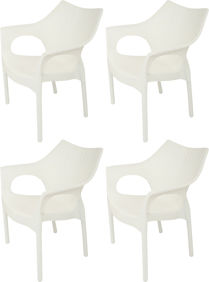 View Supreme Cambridge Plastic Outdoor Chair(Finish Color - Milky White) Furniture (Supreme)