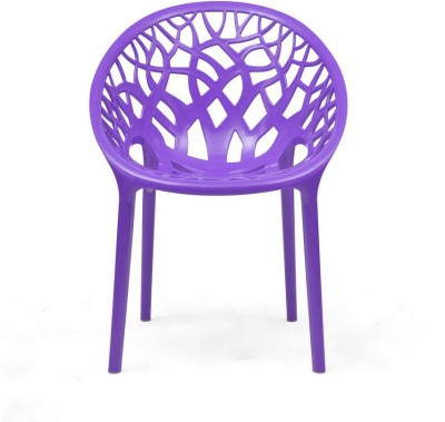 Nilkamal Crystal Plastic Outdoor Chair(Finish Color - Violet)