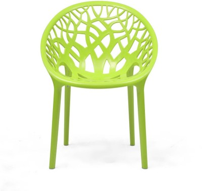 Nilkamal Crystal Plastic Outdoor Chair(Finish Color - Lime Green)