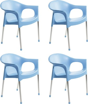 Cello Furniture Plastic Cafeteria Chair(Finish Color - Flourescent Blue)