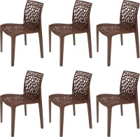 Supreme Web Plastic Outdoor Chair(Finish Color - Globus Brown)