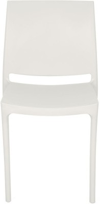 Nilkamal Novella 08 Plastic Outdoor Chair(Finish Color - Milky White)