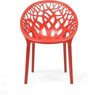 Nilkamal Crystal Plastic Outdoor Chair(Finish Color - Bright Red)