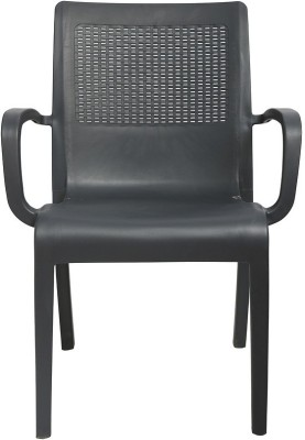 Cello Furniture Plastic Outdoor Chair(Finish Color - Grey)