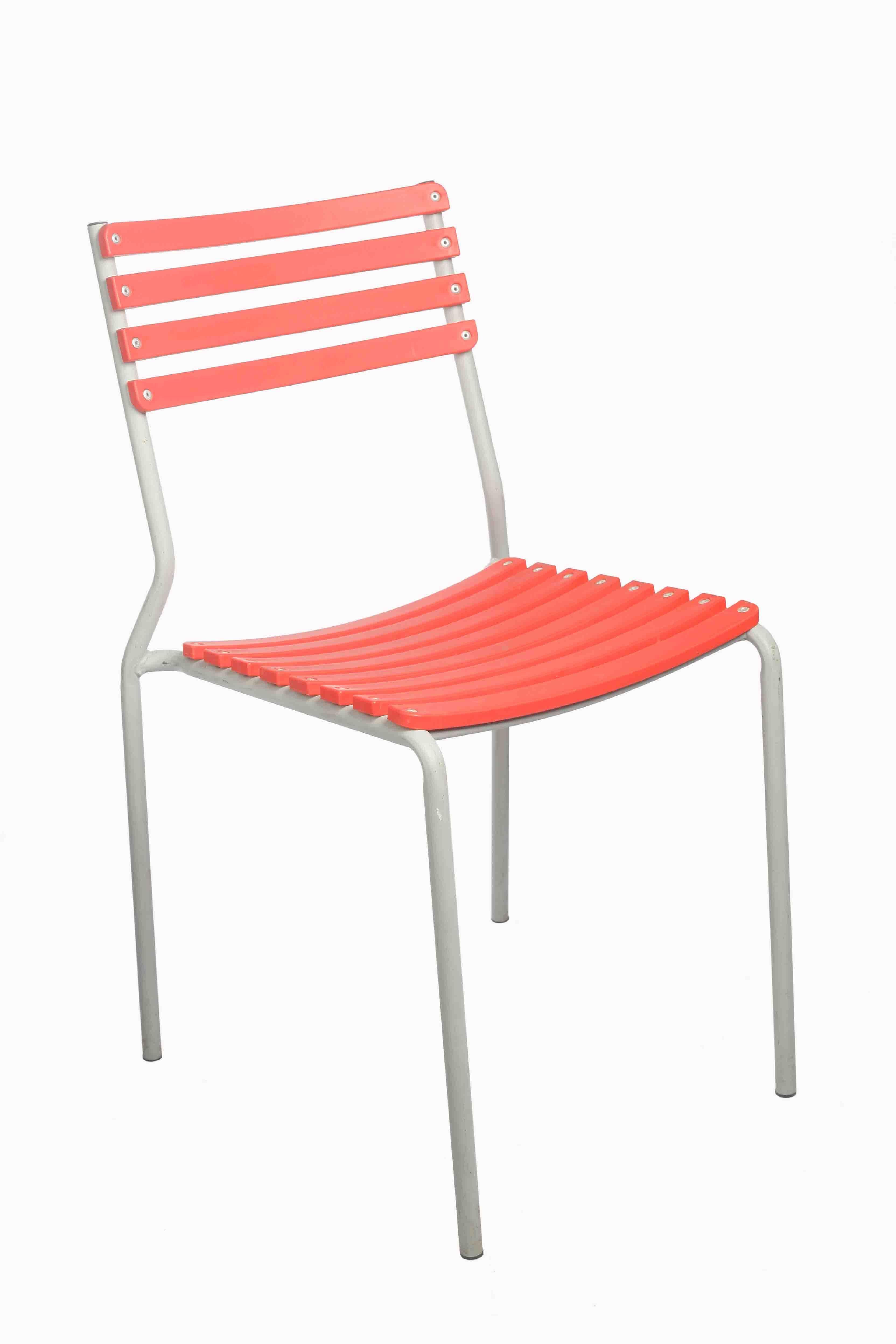 View Ventura Plastic Cafeteria Chair(Finish Color - Red) Furniture (Ventura)