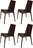 Supreme Lumina Plastic Outdoor Chair(Finish Color - Globus Brown)