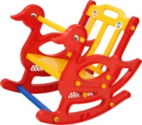Supreme Duck Plastic Outdoor Chair(Finish Color - Red)