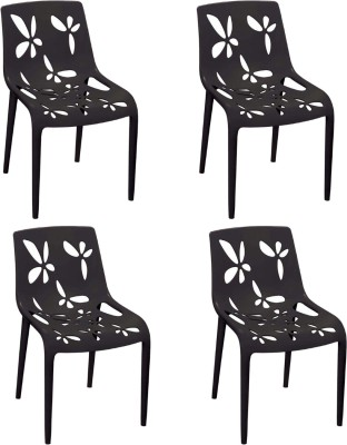 Cello Furniture Plastic Cafeteria Chair(Finish Color - Black)