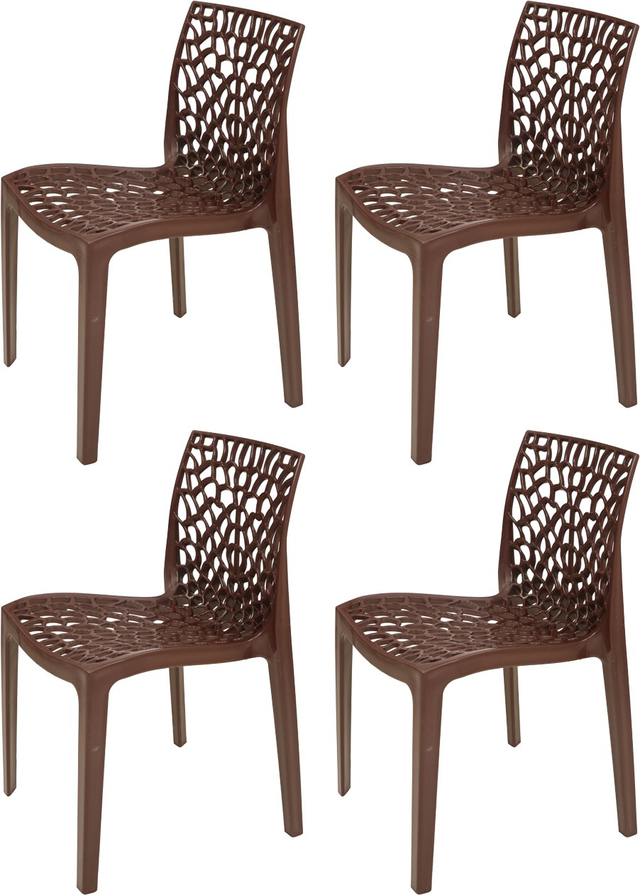 supreme web plastic outdoor chair finish color globus brown