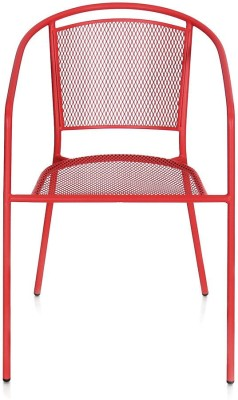 @home by Nilkamal Rosie Metal Outdoor Chair(Finish Color - Red)