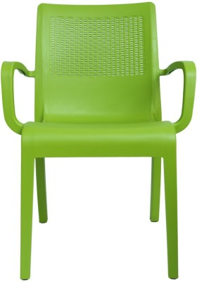 Cello Furniture Plastic Outdoor Chair(Finish Color - Green)