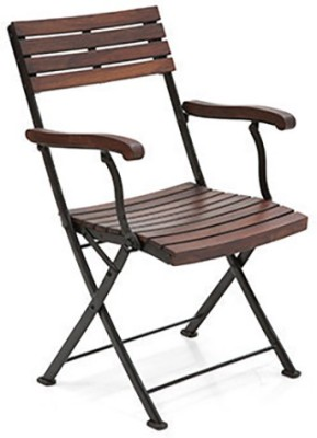 Urban Ladder Masai Solid Wood Outdoor Chair(Finish Color - Brown)