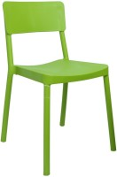 Cello Furniture Plastic Cafeteria Chair(Finish Color - Green)