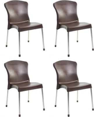 Cello Furniture Plastic Cafeteria Chair(Finish Color - Brown)