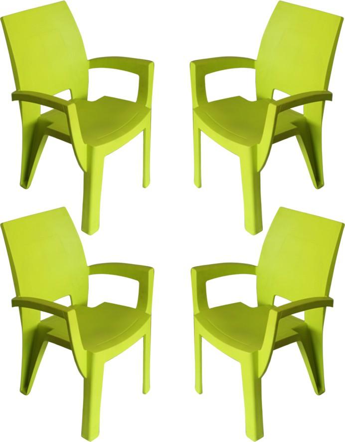 View Mavi Plastic Outdoor Chair(Finish Color - Green) Furniture (Mavi)