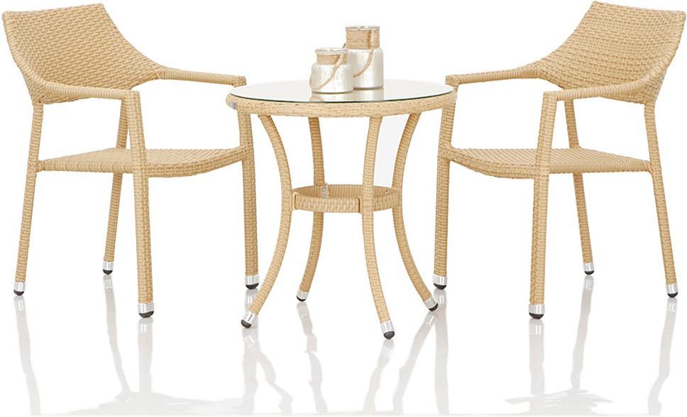 View Studio F Beige Synthetic Fiber Table & Chair Set(Finish Color - Beige) Furniture (Studio F)