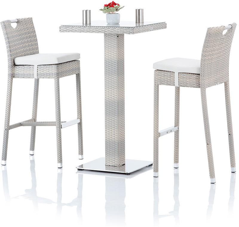 View Studio F Grey Synthetic Fiber Table & Chair Set(Finish Color - Grey) Furniture (Studio F)