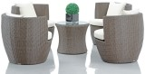 Studio F Brown Synthetic Fiber Table & C...