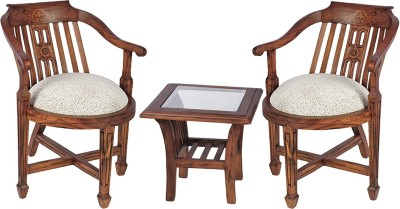Smarvvv Productions Brown Solid Wood Table & Chair Set