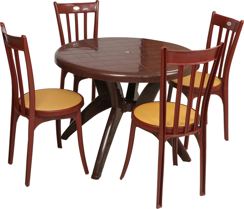 Orlando Teak Wood Round Dining Table Set