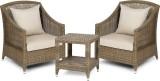 Svelte Brown Metal Table & Chair Set (Fi...