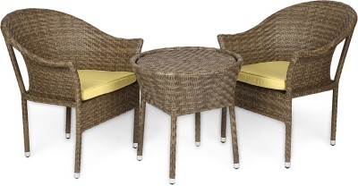 Svelte Brown Metal Table & Chair Set