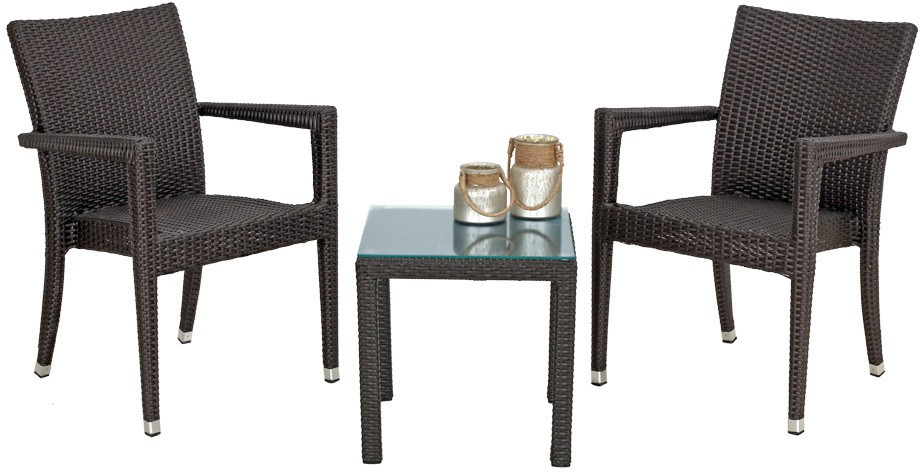 View Studio F Brown Synthetic Fiber Table & Chair Set(Finish Color - Brown) Furniture (Studio F)
