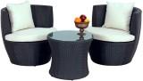 Studio F Black Synthetic Fiber Table & C...