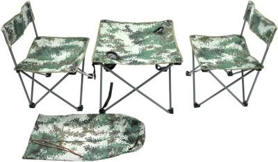 Hawai Green Metal Table & Chair Set(Finish Color - Green)