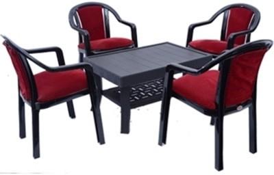 Mavi Black Fabric Table & Chair Set(Finish Color - Black)