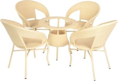 Mavi Beige Cane Table & Chair Set(Finish Color - Beige)