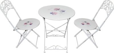 Mavi White Metal Table & Chair Set(Finish Color - White)