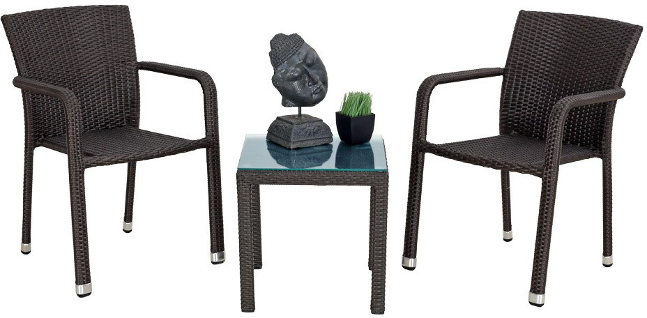 View Studio F Brown Synthetic Fiber Table & Chair Set(Finish Color - Brown) Price Online(Studio F)